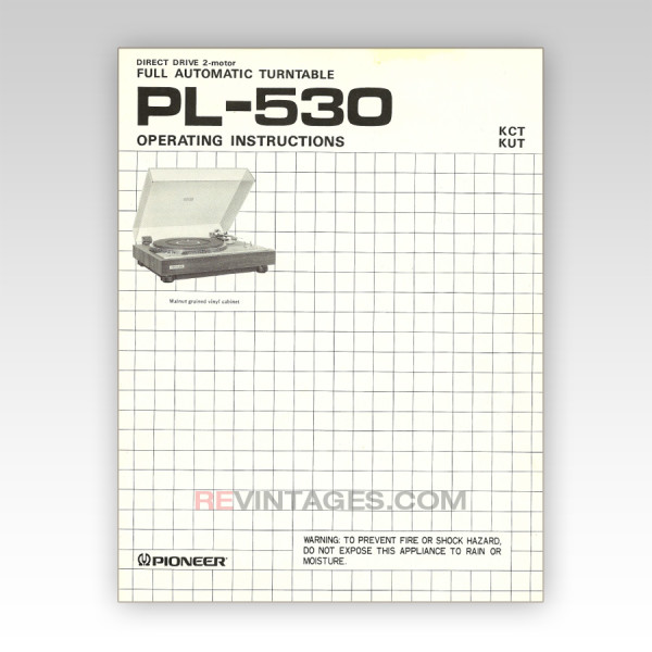 01 Pioneer PL530 Operator's manual