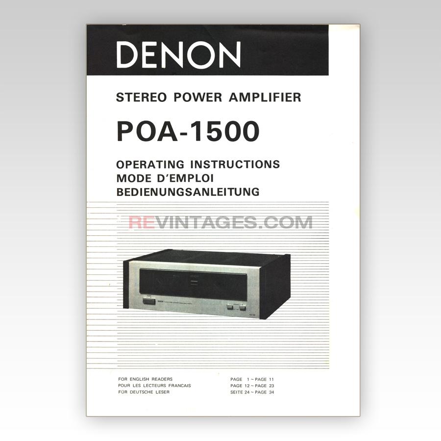 04 Denon POA-1500 Operating Instructions