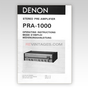 05 Denon PRA-1000 Operating Instructions