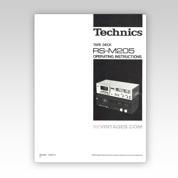 09_Technics_RS-M205_Cassette_Tape_Deck _Manual