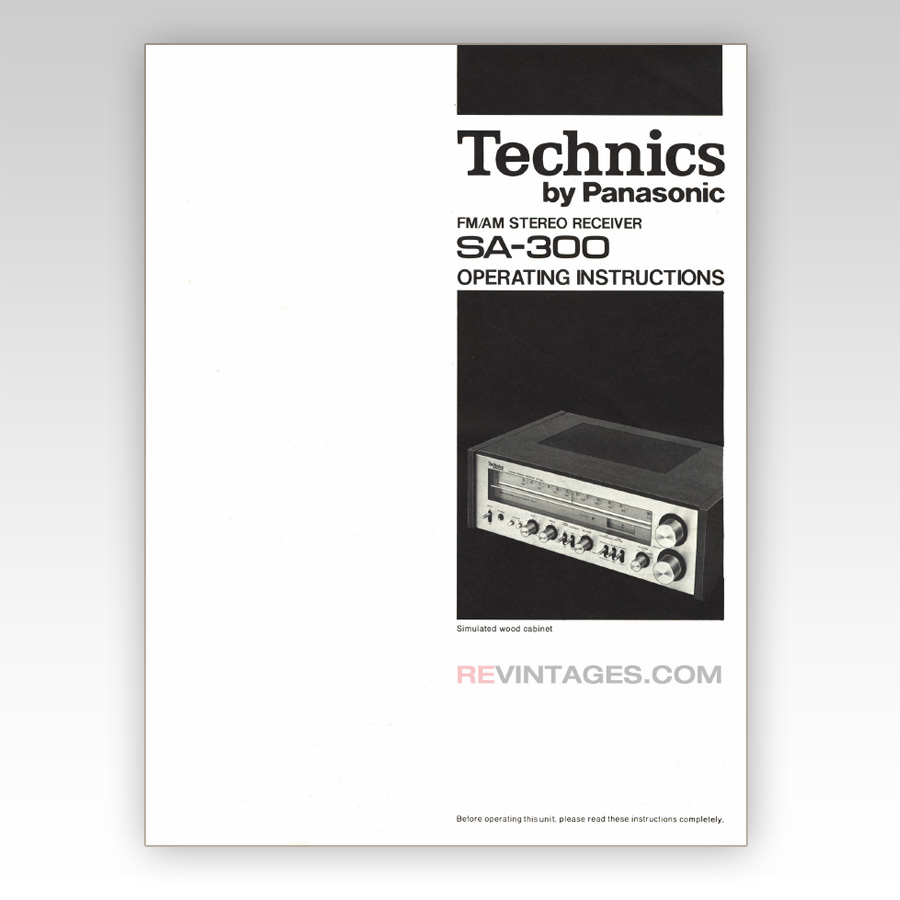 technics sa 300 stereo receiver manual english revintages