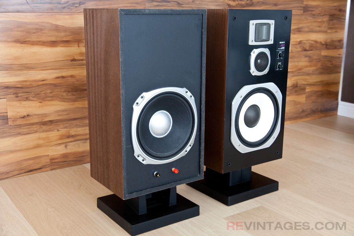 Sony Ss967 Speakers With Ribbon Tweeters Revintages