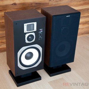 Sony SS967 Speakers with one grill attached