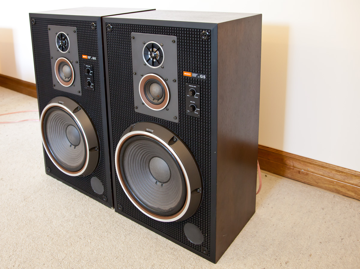 Sony Ss G5 Three Way Speakers Revintages