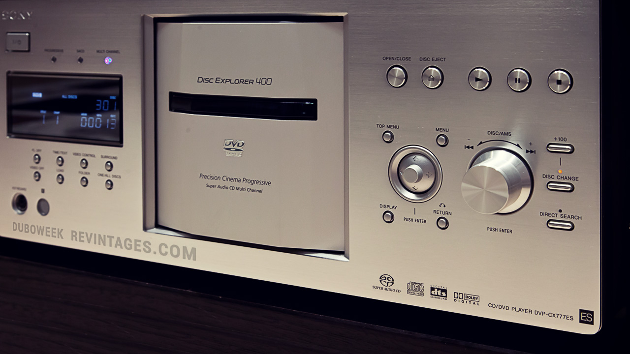 Sony 400 Disk Player,SONY DVP CX777ES,sony,dvp,SONY CX777ES,CX777ES,duboweek channel,revintages.com
