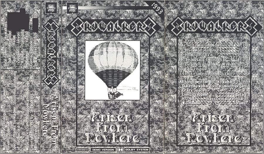 SkyWalkers - Arisen from Nowhere Cassette Insert